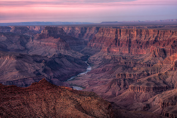 Camp and Hike Sunset Light at Navajo Point, Grand Canyon National Park, AZ