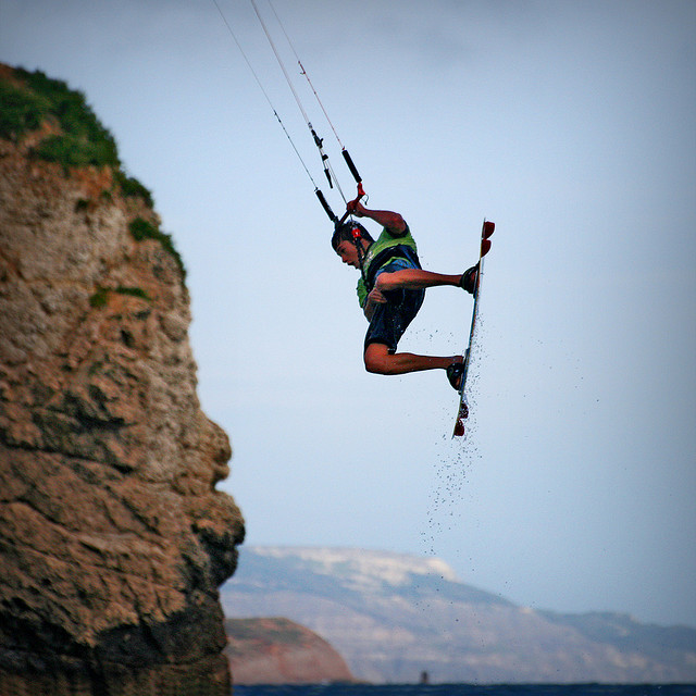 Wake Kite Surfing @ Freshwater Bay, Isle of Wight