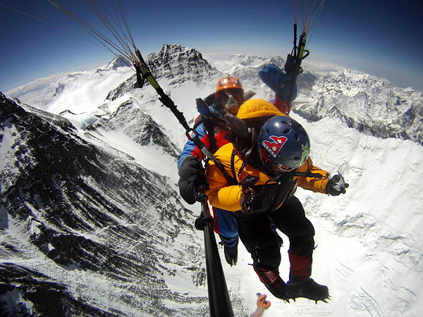 Climbing Paragliding Off Everest