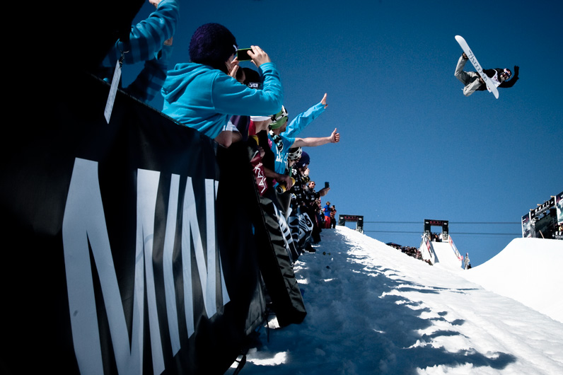 Snowboard With the win in the bag, Iouri Podladtchikov had a victory lap of booming straight airs.