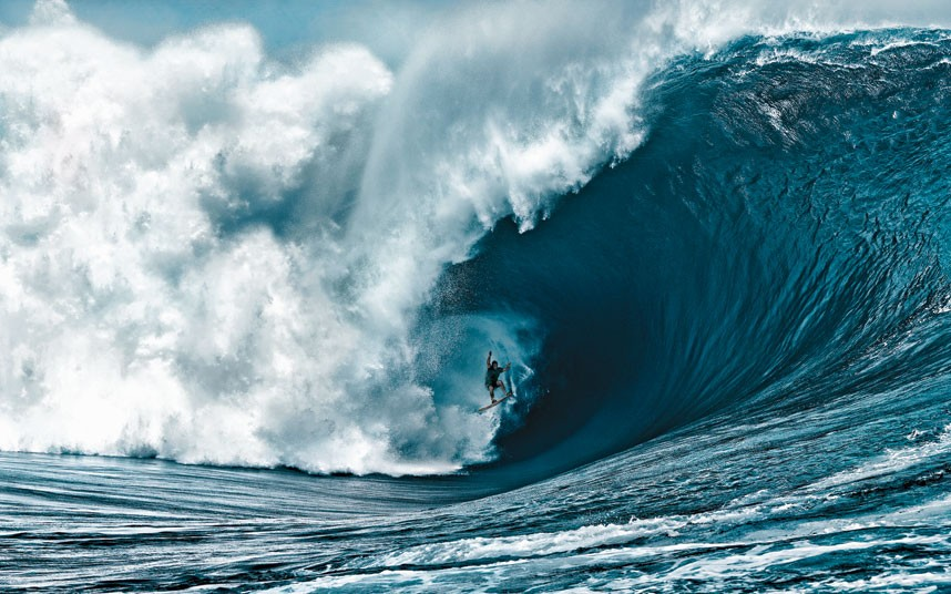 Surf Nathan Fletcher rides what is believed to be the heaviest wave ever ridden in Tahiti.