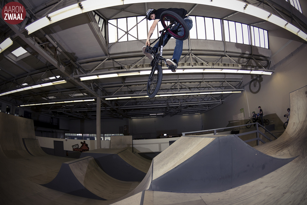 BMX Tom van den Boogaard Turndown into the bank
