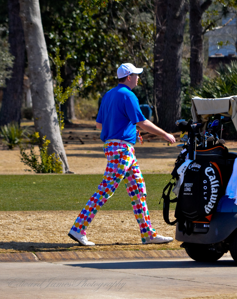 Golf I wonder what the hell was going through this guys mind when he got dressed that morning.