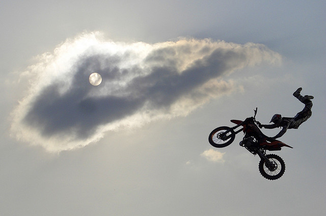 Motorsports ump among the clouds
