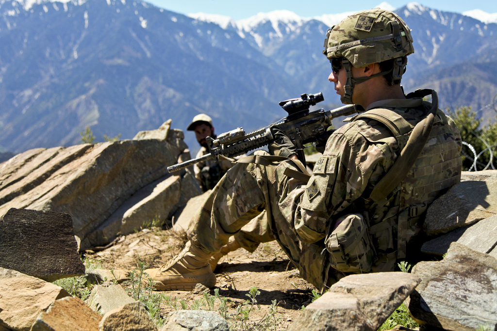 Guns and Military Kunar province, Afghanistan, May 3, 2012.