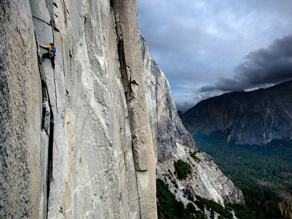 Climbing Climber Alex Honnold spent two weeks in Yosemite crushing speed records up 3,000-foot El Capitan and iconic Half Dome, at one point soloing both in a single, 11-hour stretch.