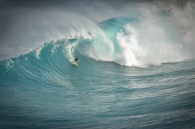 Surf Killer wave at Jaws Maui.