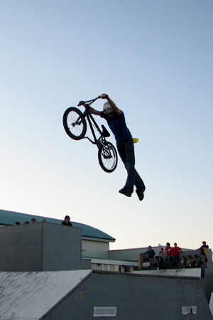 BMX There was a fairly small BMX community in Miramichi ...