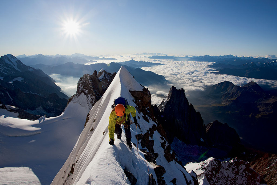 Climbing Jonathan Griffith on Cerro Piergiorgio in Patagonia