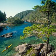 Kayak and Canoe Kayak in Nootka Sound, Vancouver Island's West Coas