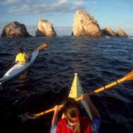 Kayak and Canoe The Churches off La Manzanilla, West coast Mexico
