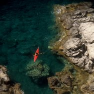 Kayak and Canoe The Mediterranean waters off the south coast of Crete