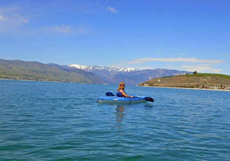 Kayak and Canoe At almost 1500 feet deep, Lake Chelan is the third deepest lake in North America