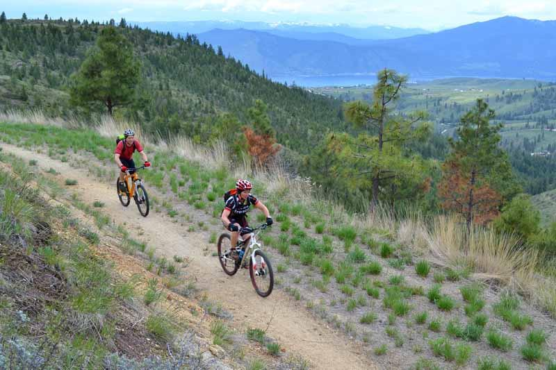 The Nowhere to Hide trail offers outstanding views of Lake Chelan and the surrounding Cascades