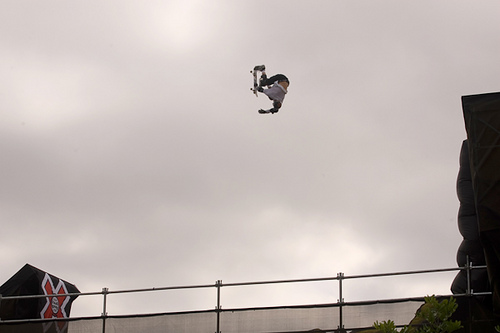 Skateboard Danny Way - Indy Backflip, Big Air, X Games 12
