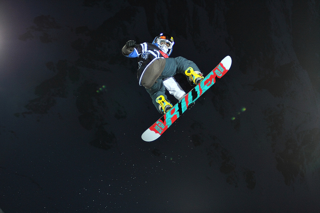 Snowboard yes! sweet shot