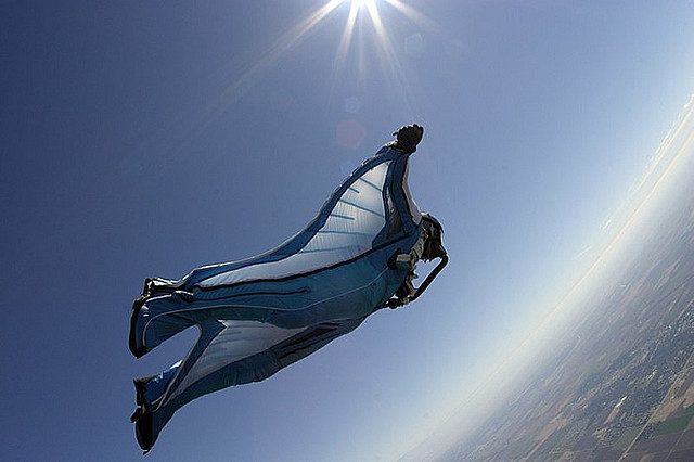 Extreme High Altitude Wingsuit Skydive over Skydance Skydiving in California by Andy Ford
