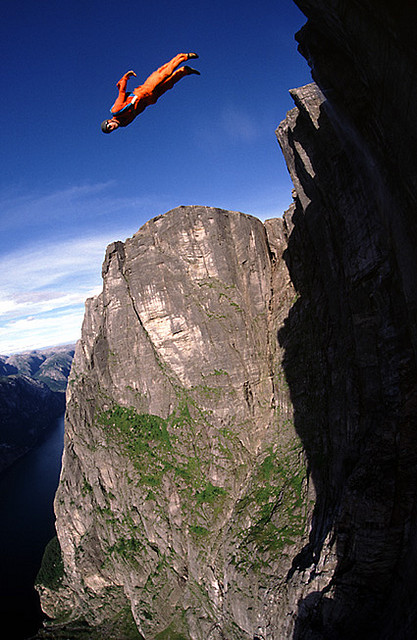 Extreme 1000 meter cliff