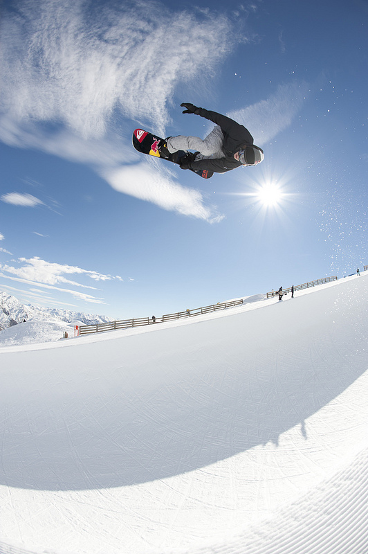 Snowboard great shot