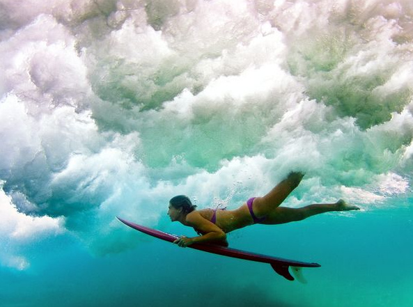 Surf surfing below the surface