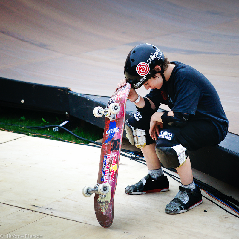 Skateboard Never give up.  Tom Shaar, 12 years old, the only skateboarder in the world to land a 1080.
