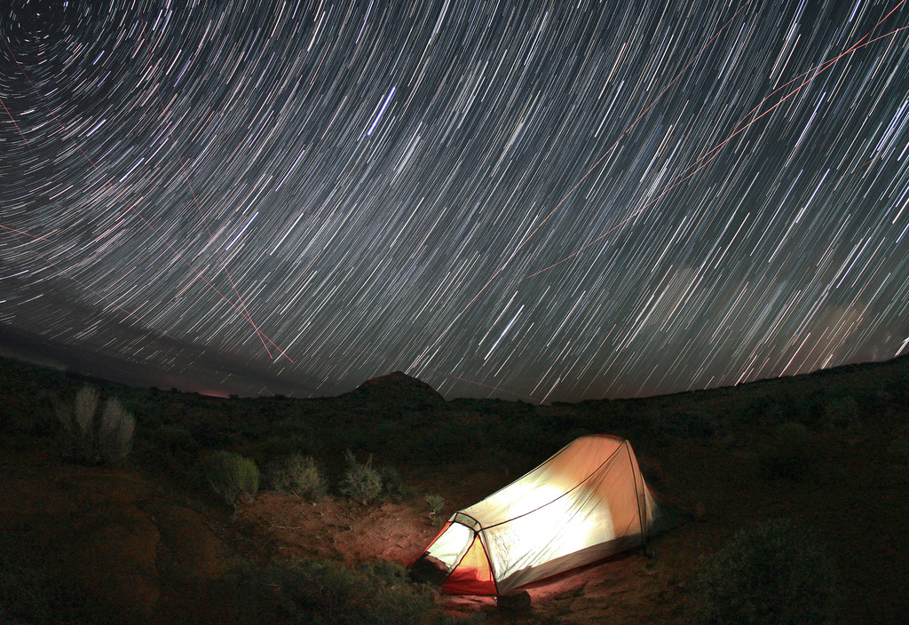 Camp and Hike Starry Night in Escalante