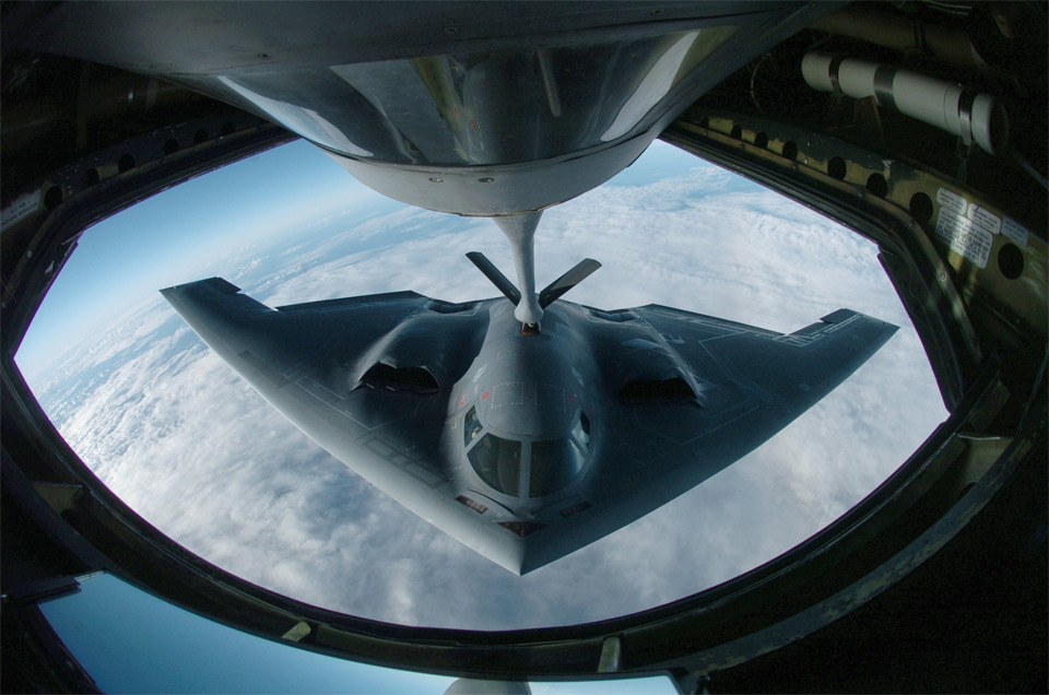 Guns and Military b2 spirit refuel