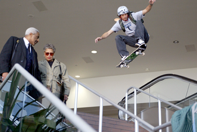 Skateboard Bucky Lasek in X Games Commercial