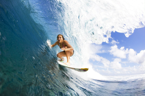 Surf CARISSA MOORE AT P-PASS IN POHNPEI