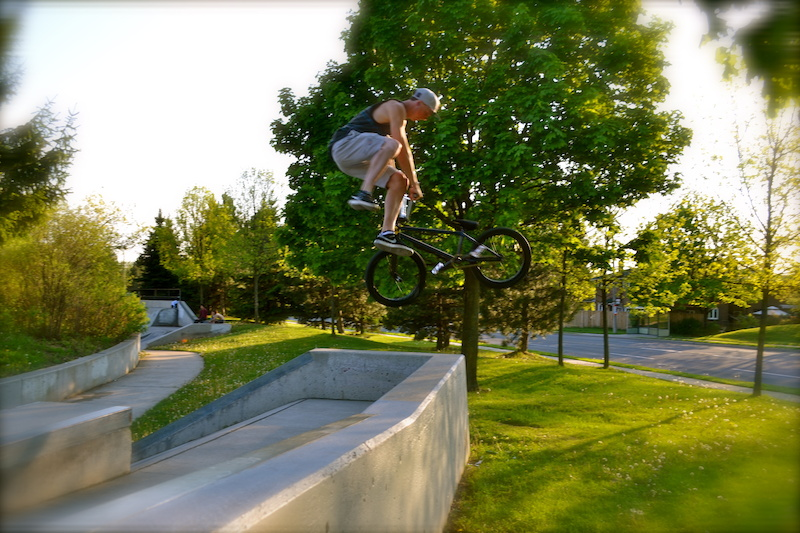 BMX tailwhip gap to grass