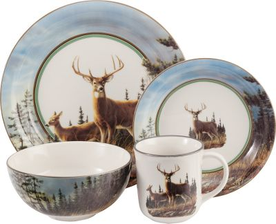 Hunting This beautiful dinnerware set a Cabelas exclusive gives your dinner table a lodge-inspired  sc 1 st  Thrill On & Cabelau0027s Hautman 16-Piece Dinnerware Sets - $49.99 - Thrill On