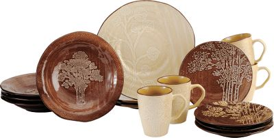 The tranquility of the Northwoods is captured in this beautiful set that showcases textured burlap finishes  sc 1 st  Thrill On & Cabela\u0027s 16-Piece River Birch Dinnerware - Tan - $39.88 - Thrill On