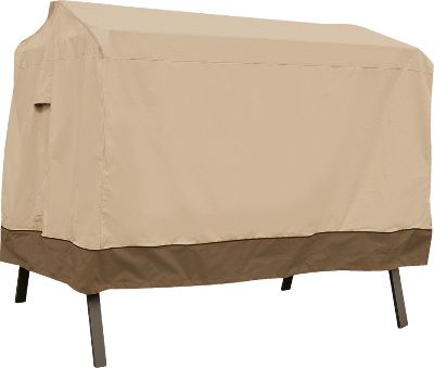 Camp and Hike Classy, premium-quality protection for canopy swings. Heavyweight Gardelle woven-polyester fabric has a water-repellent PVC coating on the inside and a protective splash-guard skirt with a toggle-adjustable hem. Fits canopy swings up to 78L x 60W x 72H. Imported. Type: Furniture Covers. - $119.99