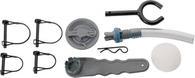 Fishing Keep this pack of essential back-up parts and equipment in your pontoon boat or float tube and youll be ready for emergencies as they arise. All kits include: four clevis pins to secure frame, pontoon inflation valve, valve inflation adapter, inflation valve wrench, corrosion-resistant oarlock, cotter pin to secure oarlock and pontoon bladder patch kit. Sizes: Small (fits Arrow, Cimarron, Madison and Fremont pontoons) Medium (fits Delaware and Kenai pontoons) Large (fits Colorado, Colorado XT, Skagit and Rogue pontoons) Color: Repair Kit Medium. - $11.88