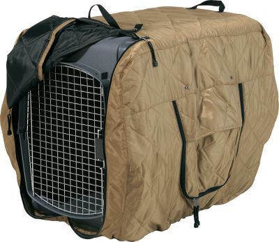 "Hunting Protect your dog from the elements when carrying it in the back of a truck with these insulated kennel jackets. This tough, affordable cover shields your dog from snow, wind, rain and cold. Zippered sides allow for venting.Color: Tan.Sizes:Medium: 32""L x 22""W x 25-3/4""H.Large: 36""L x 24-1/2""W x 28""H.Extra Large: 40""L x 27""W x 30""H. Type: Kennel Jackets. Size Large. - $64.99"