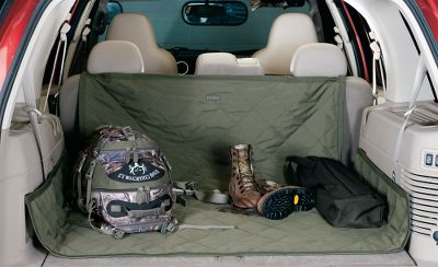 Hunting Load up the dog, hunting gear and whatever else you want to take along without fear of ruining your SUV or minivan cargo area. This rugged, UV-resistant fabric shield has a waterproof backing and also guards against abrasion. It can be easily folded to fit in foot wells and arranged to line cargo areas. It's very easy to clean, and no tools are required for installation. Fits almost any SUV or minivan cargo area. Backed by a two-year manufacturer's warranty. Dimensions: 59 L x 47-1/4 W. Colors: Loden/Chestnut. - $49.99