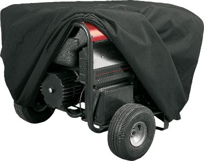 Keep dirt, debris and weather out of the motor of your portable generator with these classic covers. The heavy-duty fabric protects against rain, snow, sun damage, dust, tree sap and birds. The fabric won't shrink or stretch and its coated for water resistance. Color: Black. - $7.88