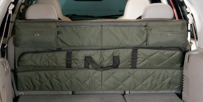 Hunting High-visibility gun racks in your truck or SUV can be an invitation to thieves, but this detachable case eliminates the problem by keeping your firearms less visible. It holds up to three firearms and includes one removable, lined gun case with carry handles. There are also six stuff pockets and two zippered gear pockets. Quickly installs and detaches. Imported. Type: Auto Gun Storage. - $109.99