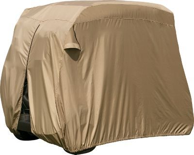 Camp and Hike This Storage Cover will protect any two-passenger golf cart from the elements. Made of durable and moisture-resistant Weather Protected fabric. Rear zipper for easy entry and installation. Built-in rear air vents. Includes stuff sack. Imported. Gender: Male. Age Group: Adult. - $49.99