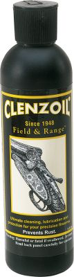 A high-quality one-step rust preventative and lubricant for Lock, Stock and Barrel. It is effective in removing oils, dirt, copper, lead and other contaminants. It provides a thin, non-greasy coating that prevents rust and lubricants all moving parts of fine firearms and sporting equipment. Clenzoil also nourishes, preserves and protects wood and leather. It will not harm polymer or other synthetic surfaces. Great for wood stocks and grips, leather holsters, scabbards and slings.Size: 8 oz. - $11.99