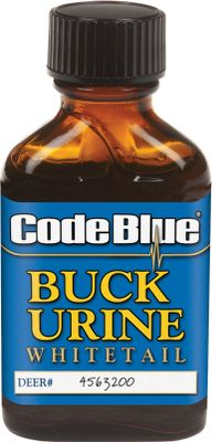 Hunting Code Blue Buck Urine works great the entire season. This 100% buck urine is collected during the peak of the rut. It provokes a territorial response from any buck in the area. Also works great to mask your own scent. Comes in a 1-oz. bottle. Color: Blue. - $10.99