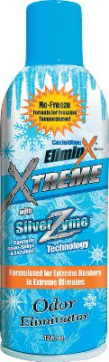 Entertainment When extreme weather or freezing temperatures render other sprays useless, rely on Eliminx Xtreme to deliver no-freeze protection from head to toe. Silver-Zyme combines nano-silver and enzyme technology to reduce bacteria and foreign odors in temperatures as low as 0. Ultrafine aerosol mist can be sprayed at any angle, even upside down. Size: 12 oz. Type: Scent Control. - $12.99