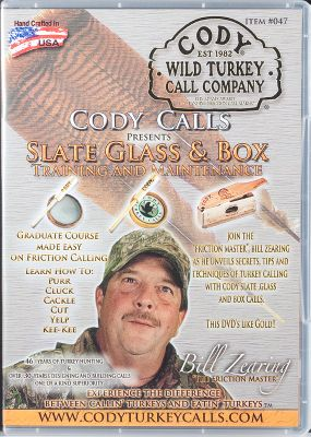 Hunting Packed with great information and training about how to use and maintain Cody glass, slate and box calls. Also offers helpful tips to increase your turkey-hunting success. 60 minutes. DVD. Made in USA. - $9.88