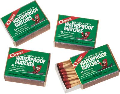 Camp and Hike Ideal for avid campers, hikers or hunters. Each pocket-sized box contains approximately 45 safety matches that cannot light accidentally. Waterproof striker surface on each box. Per 4 boxes. - $2.99