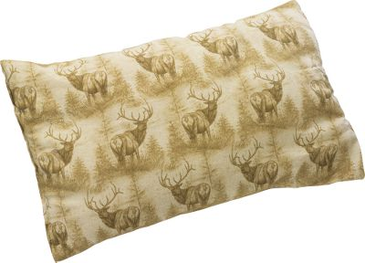"Camp and Hike Coleman is one of the biggest names in the industry when it comes to manufacturing quality camping gear. This pillow sports a classic elk silhouette screen-print design on soft 100% cotton flannel and is filled with polyester for incredible comfort. It's the perfect accessory to take along on your big-game hunt or camping adventure. Imported. Dimensions: 21""x13"", stowed - 10""x13"". - $11.99"