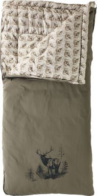 "Camp and Hike Colemans legacy has been supplying nature lovers with quality outdoor products for decades, and this sleeping bag carries that tradition forward. Large and roomy, its 6-lb. Coletherm insulation will keep you warm in temperatures as low as -5F. Lining features an elk print and is made of soft, brushed polyester. Cotton canvas cover has large elk print at bottom. Wrap N Roll storage system makes packing and unpacking your sleeping bag a breeze. Imported. Gender: Unisex. Type: Rectangle Sleeping Bags. Temp Rating: -20&degF to -1&degF. Model: ColemanLegacy Elk. Insulation: 6lbs. Coletherm. Dimensions: 40"" x 84"". Liner: Brushed Polyester(Elk Print). Storage: Wrap-N-Roll System. Temperature Rating: -5&degF. Shell Material: Cotton Canvas. - $119.99"
