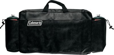 Camp and Hike Custom-fitted carry case makes storage and transport of your stove safe and easy. Constructed of durable vinyl with a strong zipper that is made to last. Two convenient drawstring pouches hold propane cylinders. Comfortable web handle makes hauling it a breeze. Color: Black. Type: Cases. - $29.99