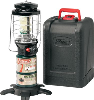 Camp and Hike Enjoy hours of light from this efficient propane-fueled portable lantern. It produces up to 4.3 hours of bright 1,500 lumens light from a single 16.4-oz. propane cylinder on the high setting or 9.25 hours of light on the low setting. Adjust the amount of light to your liking. The PerfectFlow system provides regulated, constant fuel flow InstaStart matchless lighting and the included Insta-Clip tube mantle No.95 provides reliable ignition. A footed base delivers more stability and a built-in stabilizer reduces any rattle of the globe. The porcelain ventilator resists corrosion and rust and a metal guard protects the globe. An included hard carry case protects the lantern during transport and storage. Manufacturer's limited five-year warranty. Imported. Color: Black. Type: Lanterns. - $69.99