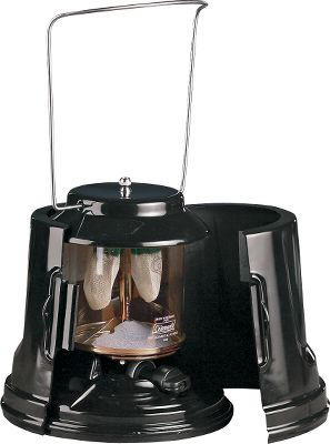 Camp and Hike This propane lantern, with its pre-installed mantels, is ready for use right out of its protective cover. It's conveniently packaged in its own carry case, so simply remove it, add propane and light. Clear, high-temperature glass makes for efficient outdoor lighting. Adjusts from high to low. Durable, porcelain-coated ventilator. Imported. - $53.99