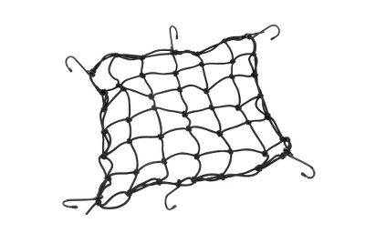 Auto and Cycle Heavy-duty elastic bungee netting secures gear to your ATV, UTV or motorcycle. Rust-resistant metal hooks hold it securely in place. - $8.99
